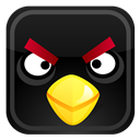 Angry, Bird, Black Icon