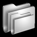 Folders, Metal Icon