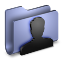 Blue, Folder, User Icon