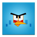 Angry, Bird, Blue, Frameless Icon