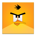 Angry, Bird, Frameless, Yellow Icon