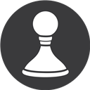 Chess, Game, Grey Icon