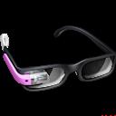 Glasses, Google, Pink Icon