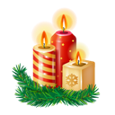 Candles, New, Year Icon