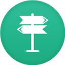 Circle, Flat, Navigation Icon