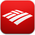 America, Bank, Of, Red Icon