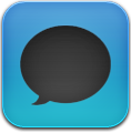 And, Black, Blue, Message Icon