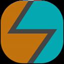 4ext, Flat, Round Icon