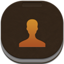 Contacts, Flat, Gold, Round Icon