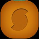 Flat, Round, Soundhound Icon