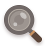 Brown, Flat, Search Icon