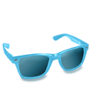 Blue, Glasses Icon