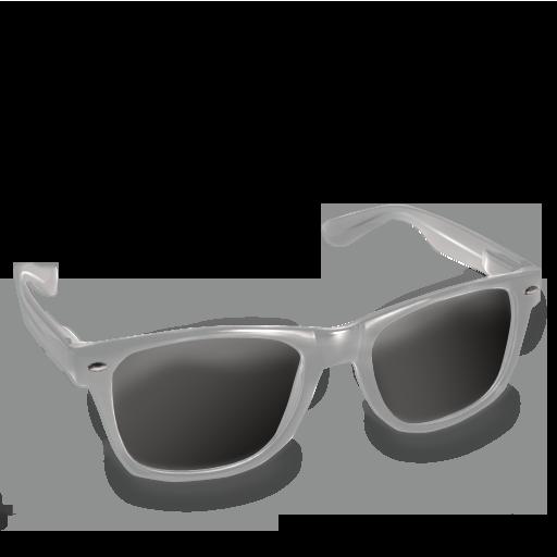 Glasses, Grey Icon