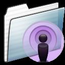 Folder, Graphite, Podcast, Stripe Icon