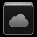 Black, Cloud, Mobileme Icon