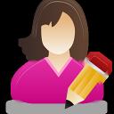 Edit, Female, User Icon