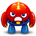 Angry, Monster, Red Icon