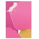 Cream, Pink Icon