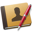 Address, Alt, Book, Red Icon
