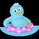 Follow, Me, Ring, Summer, Swim Icon