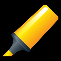 Highlighter, Yellow Icon