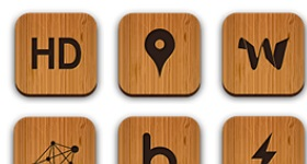 Wooden Social Icons