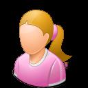 Child, Female, Light Icon