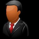 Customer, Dark, Male Icon