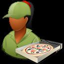 Dark, Female, Pizzadeliveryman Icon