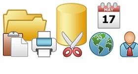 Warm Toolbar Icons