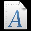 Application, Font, Gnome, Mime, Pcf, x Icon