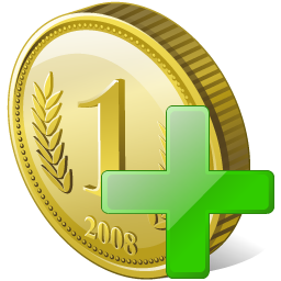 Add, Coin Icon