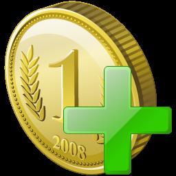 Add, Coin Icon