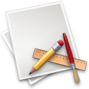 Application, Art, Brush, File, Pencil, Ruler Icon