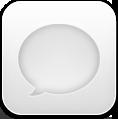 Message, White Icon