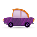 Car, Icon, Purple Icon