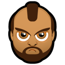 Angry, Black, Face Icon