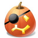 Halloween, Jack, Lantern, Pirate, Pumpkin Icon