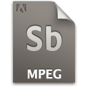 Document, File, Mpeg, Sb, Secondary Icon