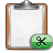 Clipboard, Cut Icon