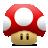 Mario, Mushroom, Super Icon