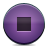 Button, Stop, Violet Icon