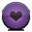 Button, Heart, Violet Icon