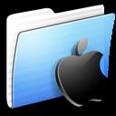 Apple, Aqua, Folder, Stripped Icon