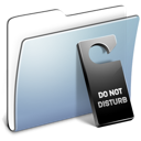 Disturb, Do, Folder, Graphite, Not, Smooth Icon