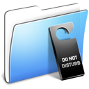 Aqua, Disturb, Do, Folder, Not, Smooth Icon