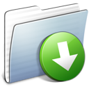 Dropbox, Folder, Graphite, Stripped Icon