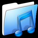 Aqua, Folder, Music, Smooth Icon
