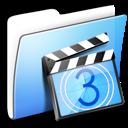 Aqua, Folder, Movies, Smooth Icon
