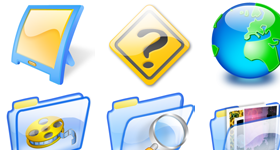 AzulLustre 2 Icons